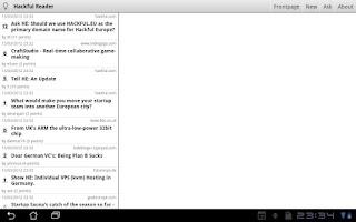 Screenshot of Hackful Europe Reader