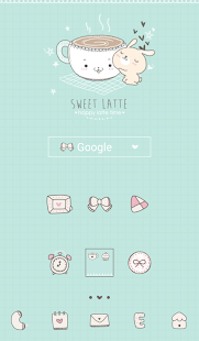 sweet latte dodol theme - screenshot