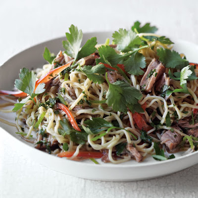 Asian-Style Pork with Noodles