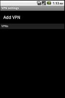 Screenshot of VPN Service