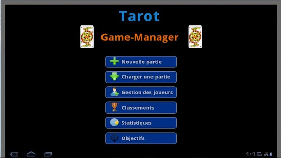 Tarot Game Manager - screenshot