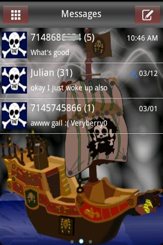 Pirates HD Go SMS Pro Theme