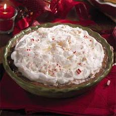 Fudgy Chocolate Malt-Peppermint Pie