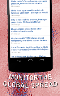 Ebola Virus Tracker - screenshot