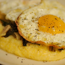 Polenta with Wilted Escarole and Olive Oil Poached Eggs