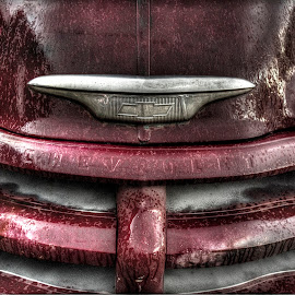 Rust and Rain by Ryan Smith - Transportation Automobiles ( grill, vintage, truck, colorado, rusty, chevy )