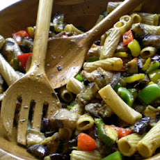 Whole-Wheat Pasta Salad with Grilled Zucchini and Olives
