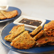 Scallion Potato Latkes with Ginger Dipping Sauce