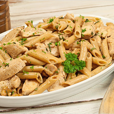 Penne with Chicken, Walnuts and Sage Brown Butter
