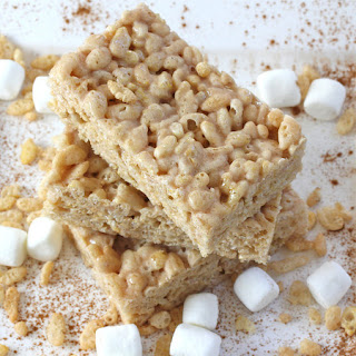Cinnamon Marshmallow Krispie Treats with Cinnamon Glaze