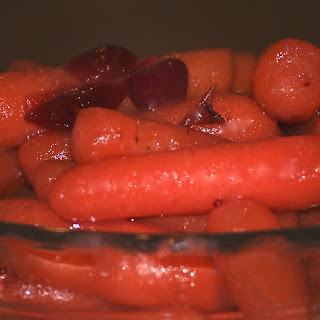 Baby Carrots in Cranberry-Orange Brandy Sauce