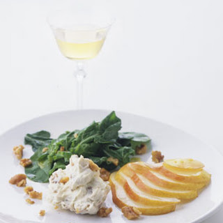 Arugula and Pear Salad with Mascarpone and Toasted Walnuts