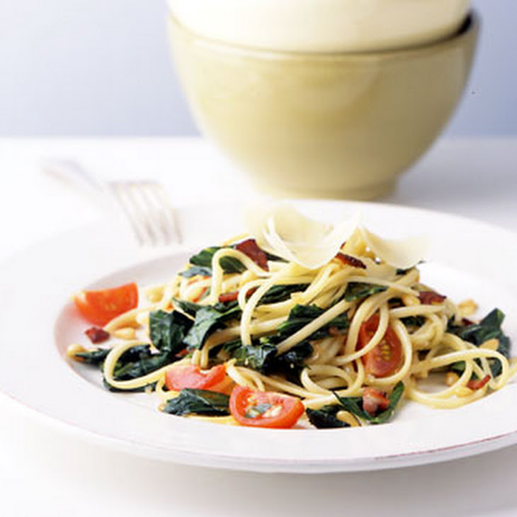 Linguine with Collard Greens and Bacon