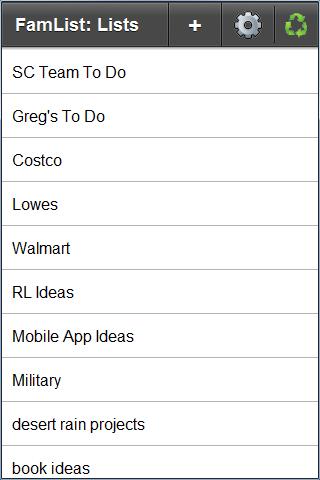 FamList: Live Lists Everywhere