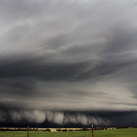 by Jason Holden - Landscapes Weather ( structure, thunderstorm, supercell, severe, tornado, wall cloud )
