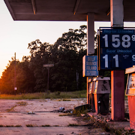 i found this off the highway. by Trey Walker - Novices Only Street & Candid ( gas, highway, rust, photo, abandoned )