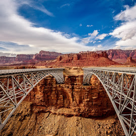 Navajo Bridge by David Long - Buildings & Architecture Bridges & Suspended Structures ( colorado river, navajo bridge, grand canyon )