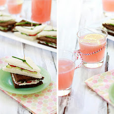 Cucumber Tea Sandwich with Radish and Watercress