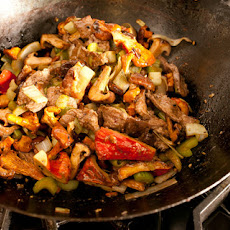 Wild Mushroom and Beef Stir-Fry Recipe