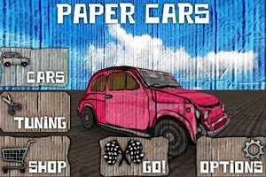 Screenshot of Paper Cars BETA