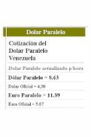 Screenshot of Dolar paralelo en Venezuela