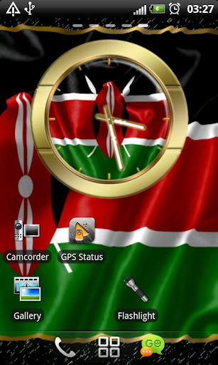 Kenya flag clocks
