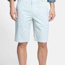 BOSS Green 'Hakob' Mini Check Tech Shorts