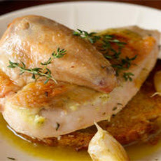 Garlicky Roasted Chicken with Garlic Jus on Garlic Toast Recipe