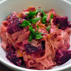 Valentine's Day Pasta in Pink Beetroot Sauce