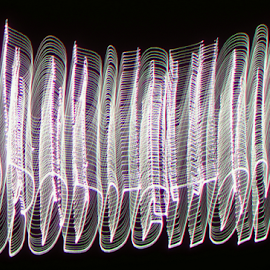 3d Productions ! by Jim Barton - Abstract Patterns ( laser light, light design, 3d, white, laser design, word, laser, productions, light, science )