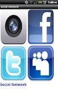 Screenshot of Social Network