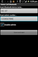 Screenshot of Detect call Bluetooth