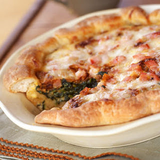 Caramelized-Onion, Spinach, and Bacon Quiche