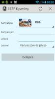 Screenshot of SZÉP Egyenleg