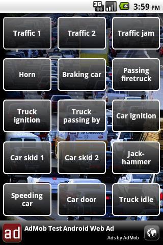 Traffic jam soundboard