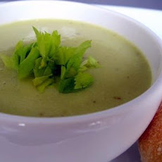 Celery Bisque with Stilton Toasts