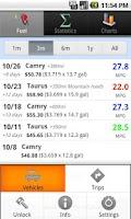 Screenshot of GasLog - Gas Mileage Tracker