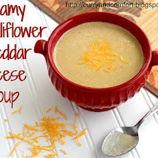 Creamy Cauliflower Cheddar Cheese Soup