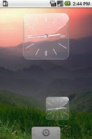 Screenshot of Glass Clock Widget 3 sizes