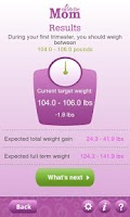 Screenshot of Pregnancy Weight Calculator