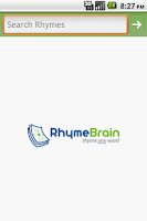 Screenshot of RhymeBrain