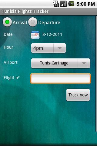 Tunisia Flights Tracker
