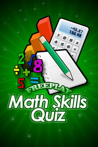 FreePlay Math Skills Quiz