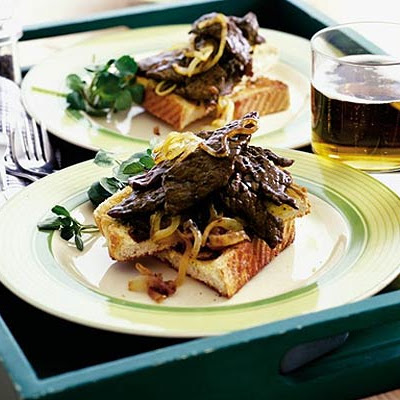 Dad's Minute Steak With Golden Onions