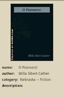 Screenshot of O Pioneers!