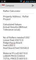Screenshot of Rafter Calculator