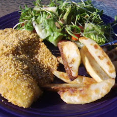 Crumbed Fish With Wedges