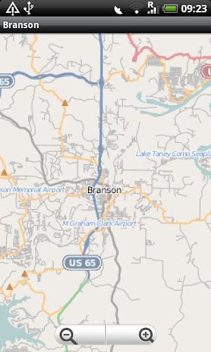 Branson MO Street Map