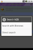 Screenshot of SABnzbd Client