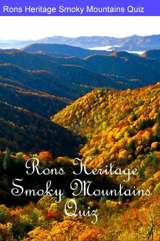 Rons Smoky Mountains Quiz